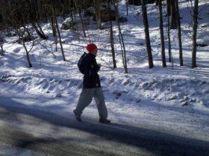 Ulla på väg hem från rundan runt Edsviken